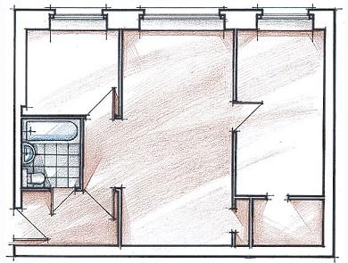 Перепланировка 2 комнатной хрущевки