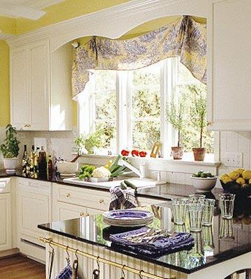 Создавая дизайн окна на кухне